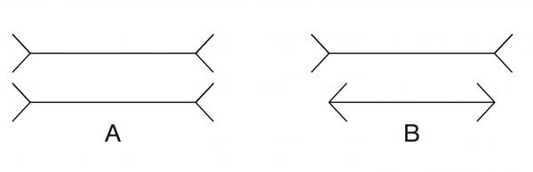 Какая линия на рисунке самая короткая?