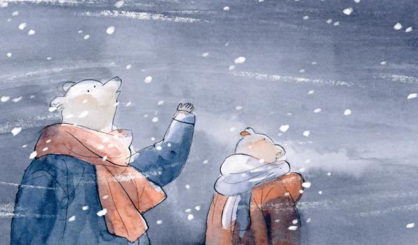 Герои сказки — два белых медвежонка, которые посреди ночи остались в лесу без крыши над головой. Они стучались в разные двери, просили пустить погреться, предлагали попить чай с печеньем, которое у них было