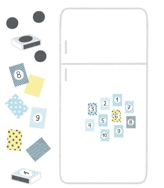 Спичечные коробки можно развесить на холодильнике, приклеив к ним магниты