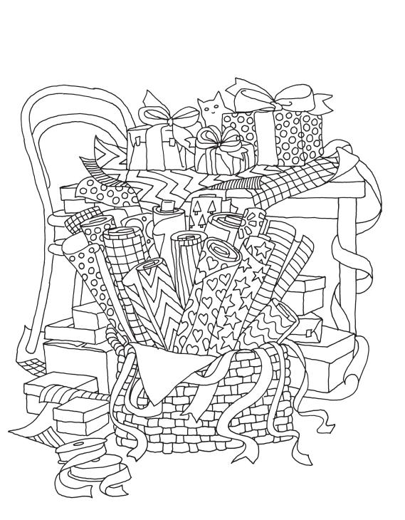 Лист из раскраски «Творческий беспорядок»