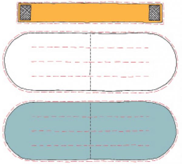 Вырежьте детали так, как показано на схеме ниже. По красным пунктирным линиям внутри деталей пока не режьте.