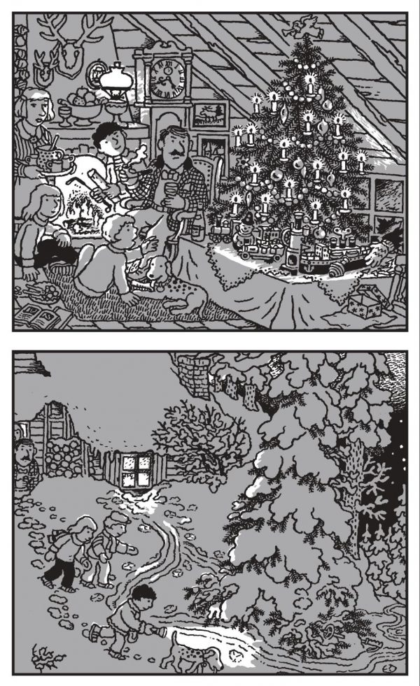 Друзья рассматривали старинные игрушки, которые дядя каждый год выставлял под елкой. «Дзинь!» — послышался звон стекла.