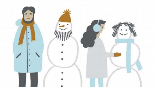 Иллюстрация из книги «Замечательное время: зима»