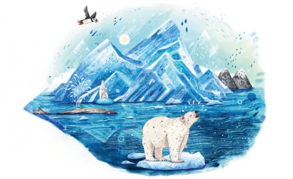 В итоге лесные жители решают заговорить с медведем. Чудо рассказывает им, что его дом на другом берегу моря — там, где тают ледники. Он всего лишь белый медведь,который хочет вернуться к своей семье.