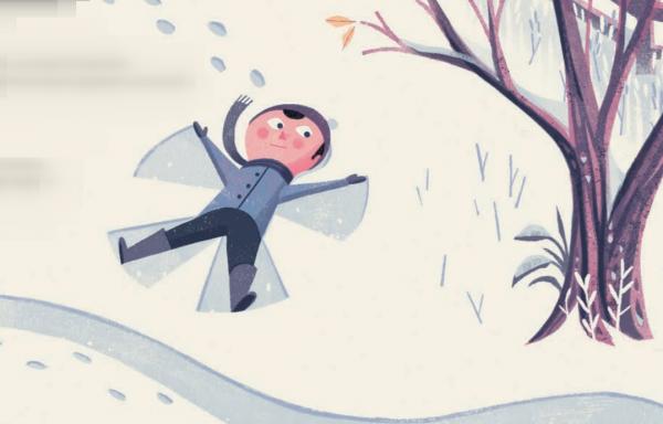 Родители заняты своими взрослыми делами, дети нашли множество классных развлечений: кто играет в снежки, кто на санках катается, кто снежных ангелов делает.