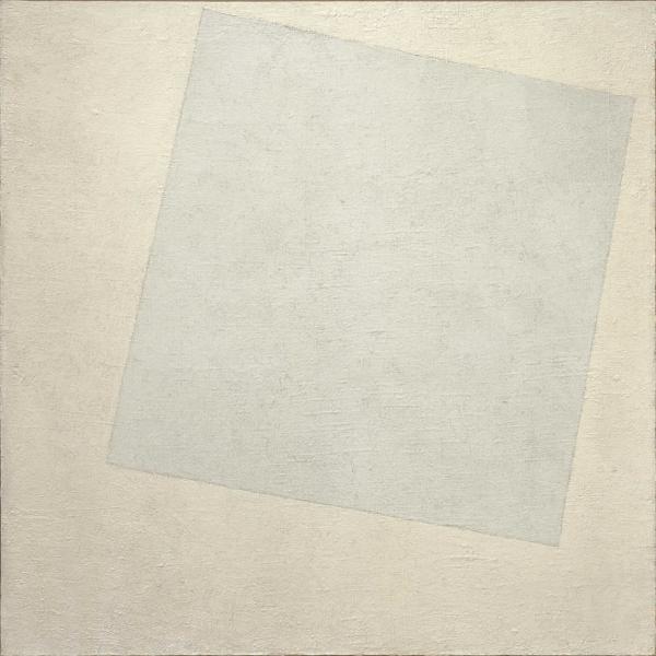 Картина «Белое на белом» не сводится к химии красок или материальному объекту. Смысл произведению придает его взаимодействие с эстетикой прошлого и традиционным представлением об искусстве.