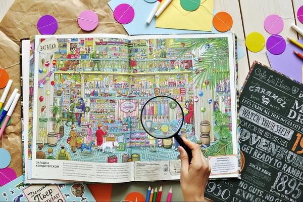 Одна из самых популярных и красивых серий наших виммельбухов. Описывать иллюстрации «Детектива Пьера» — дело непростое. Почему? Сами взгляните.