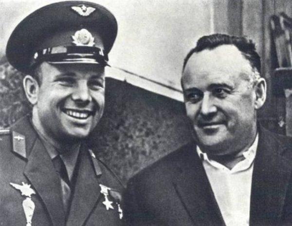 Сергей Королев вместе с Юрием Гагариным