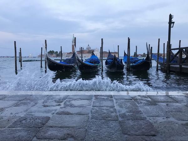 Я в Венеции далеко не в первый раз, поэтому меня уже не интересуют самые популярные среди туристов достопримечательности. Для меня каждый мост и каждый канал этого города — достопримечательность, поэтому я просто с удовольствием прогуливаюсь по остывающим после дневной жары улочкам, не слишком задумываясь над маршрутом.