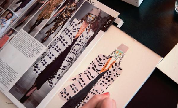 Найти вдохновение можно в модных журналах.