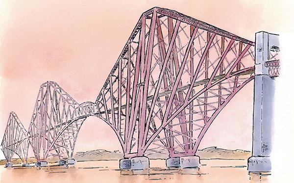 Мост через залив Ферт-оф-Форт в Шотландии — по-прежнему один из величайших мостов в мире.