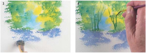 Стволы деревьев удобно рисовать укороченным лайнером.