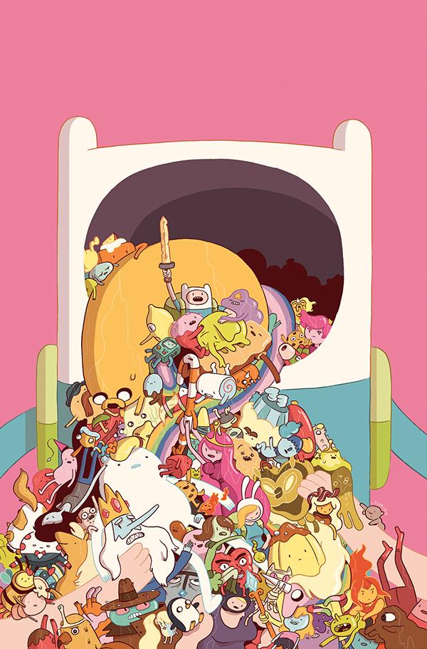 Обложка Люка Пирсона к одному из комиксов по вселенной «Времени приключений».