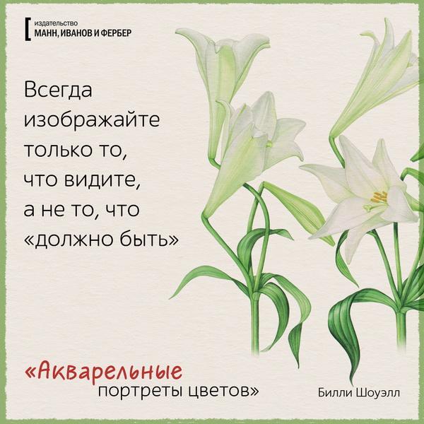 Цветущие открытки по книге «Акварельные портреты цветов»
