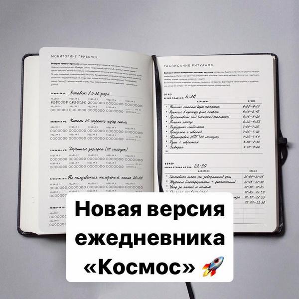 Страницы ежедневника, заполненные Катериной Ленгольд. Фото из Instagram @katerinalengold