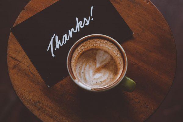 Благодарность не бывает лишней.