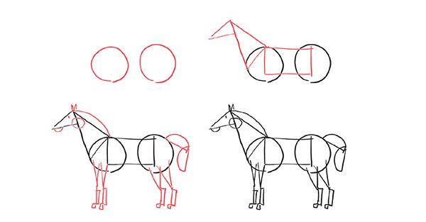 Не огорчайтесь: это нормально. Попытка с ходу нарисовать сложную фигуру приводит к стрессу. Всё потому, что вы не знаете, как она устроена. Попробуйте разбить её на части.