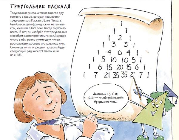Маленькие читатели увидят, как много вокруг квадратов, цилиндров и сфер, а также узнают, что такое числа Фибоначчи, научатся рисовать идеальный круг и разгадают секрет Бермудского треугольника.