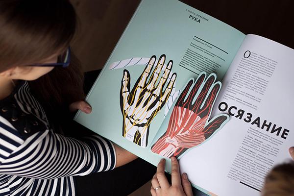 Иллюстрированный атлас по анатомии, который доступно рассказывает о том, как устроен организм человека.