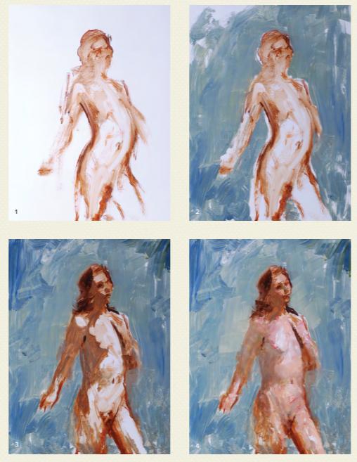 Теоретически переложить фигуру человека на холст масляными красками не сложнее, чем любой другой трехмерный объект
