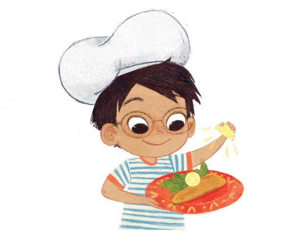 Этот рецепт очень простой. Привлеките к готовке ребенка: на первом этапе помогите ему с обжаркой.