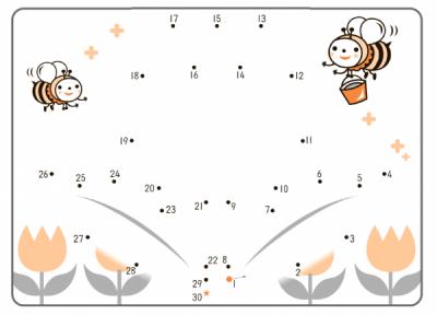 Соедини линией числа от 1 до 30 по порядку, называя вслух каждое число.