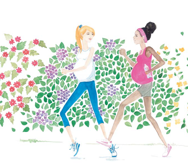 Продолжайте заниматься тем видом спорта, которым занимались до беременности по правилу 80%. Некоторые женщины говорят, что упражнения помогают им справляться с приступами токсикоза.