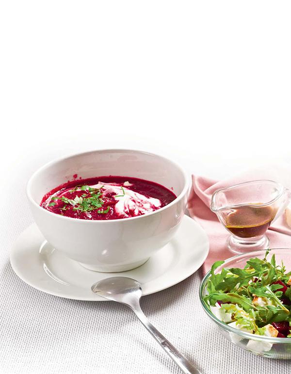 Свекольный суп-пюре в мультиварке