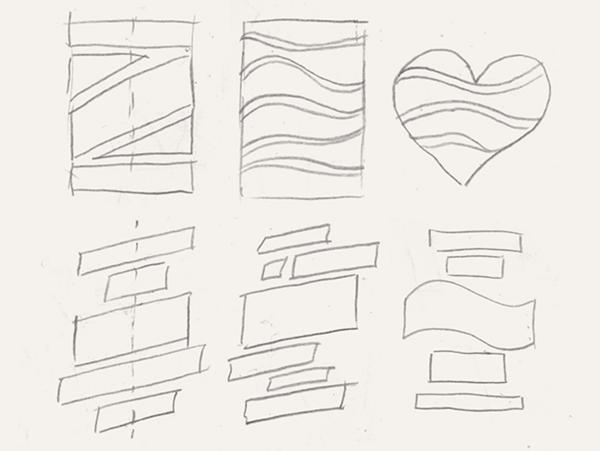 Если базовые линии горизонтальные, работа получается более менее статичной, а если появляются полукруглые, волнообразные и тем более диагональные базовые линии, работа приобретает динамику.