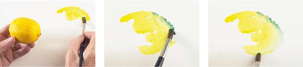 Этот мастер-класс — эксперимент с акварелью. Здесь важна не фотографическая точность, а ваше ощущение, импровизация и работа с цветом. Варьируйте края лимонов: пусть размытые контрастируют с четкими.