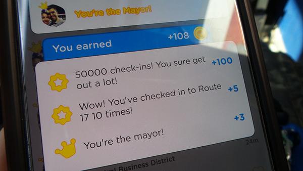 Когда вы становитесь мэром, Foursquare сообщает об этом вашим друзьям и поздравляет вас.