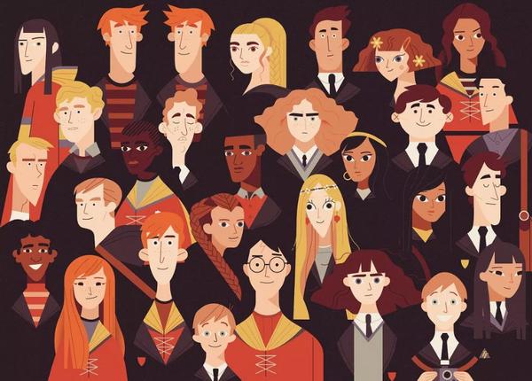 А ещё Оуэн Дэйви обожает книги о Гарри Поттере. «Мне нравятся все книги, которые перемещают в другой мир, наполненный интересными вещами», — делится иллюстратор. У него даже есть работы с любимыми героями.