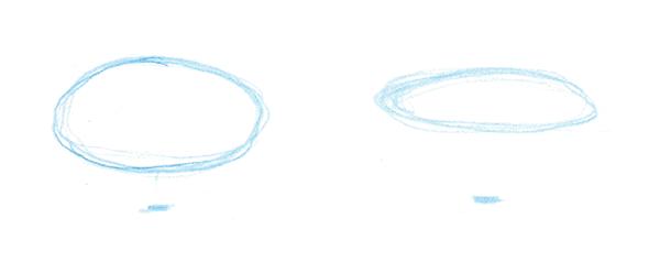 Сначала нарисуйте точную схему с учетом пропорций и перспективного сокращения.