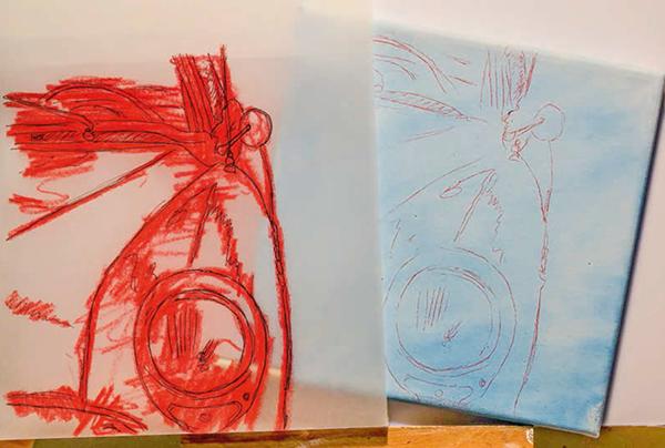 4. Вуаля! Рисунок перенесен. Вы можете обвести поярче бледные фрагменты и восстановить отсутствующие линии.