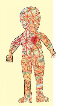 Не читайте ребенку «лекций». Лучше сделайте познание активным и творческим. Например, смастерите вместе карту тела.
