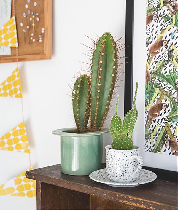 Чашки, кружки и небольшие вазочки также можно использовать как цветочные горшки. Проложите дно керамзитом, маленькими камешками или осколками терракоты: они создадут пространство для излишка воды и тем самым защитят растение от загнивания и дальнейшей гибели.