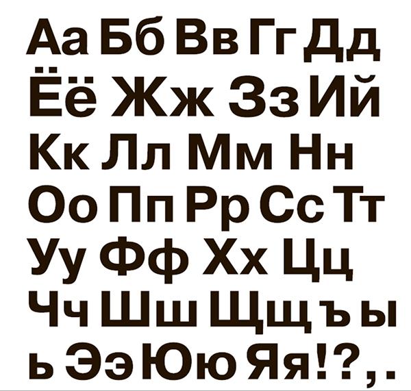 Чтобы написать первую фразу и вспомнить точные изображения букв, держите перед глазами алфавит.
