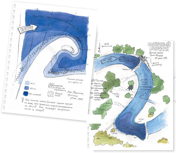 Рисуйте любые интересные места. Например, участок с муравейником. Или с описанием муравьиных троп вокруг. Или даже нанесите на карту леса все муравейники в нем.