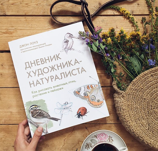 «Дневник художника-натуралиста» — это внушительный сборник, который научит рисовать природные диковины. Целых 300 страниц с заметками, советами и описаниями. Суть — наблюдая, передавать красоту растений, животных, птиц и природных явлений.