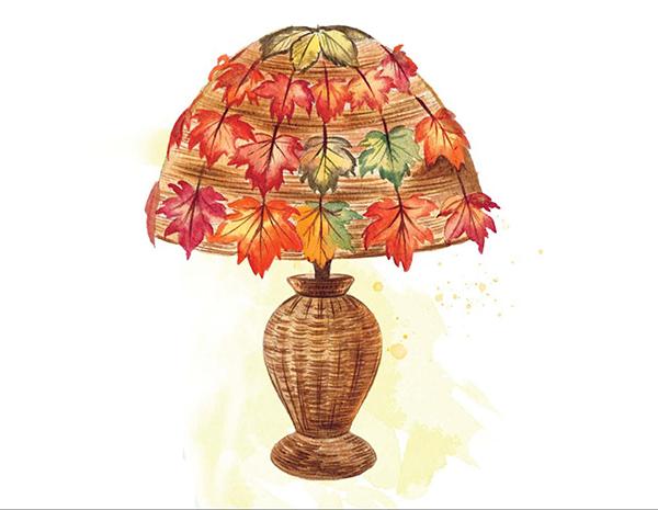 Абажур «Золотая осень»