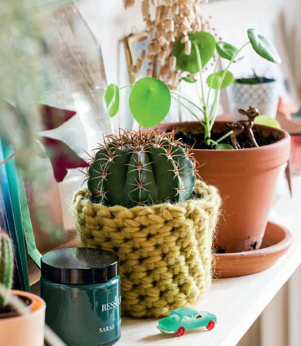 Вязаные кашпо. Если вы любите вязать и хотите необычно оформить цветочные горшки, сделайте вязаное кашпо. Красота, которая порадует фанатов растений и пряжи.