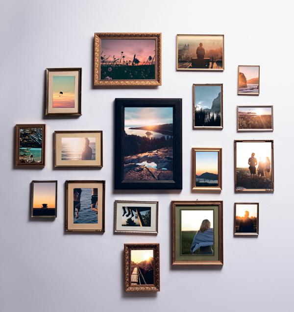 Идея для фотогалереи. Создайте домашнюю галерею из фотографий закатов, которыми вы любовались в отпуске. Под каждым снимком проставьте дату и место, чтобы освежить память и мысленно перенестись назад во времени.