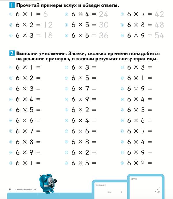 Скачивайте задание из тетради по умножению на 7.