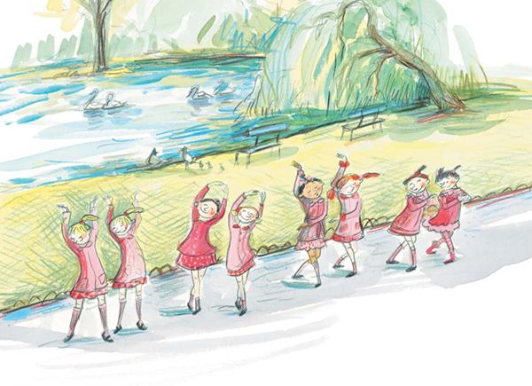 Убедитесь сами. Героини книги «Маленькие балерины» танцевали везде, потому что очень любили балет!
