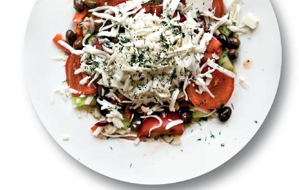 Шопский салат с брынзой