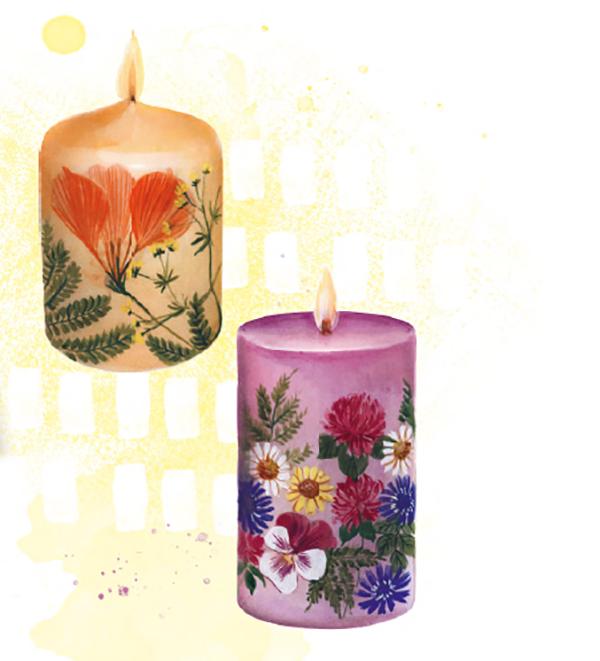Необычная свеча украсит праздничный стол — например, на твой день рождения, а также станет замечательным подарком!