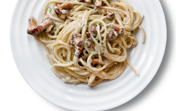 Спагетти с лисичками