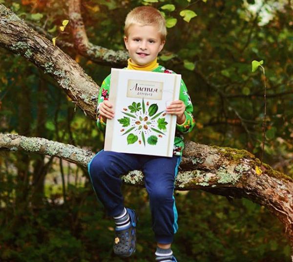 Книга-гербарий знакомит ребёнка с деревьями средней полосы России