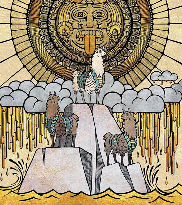 Ламы занимали важное место в жизни инков, их почитали как священных животных.
