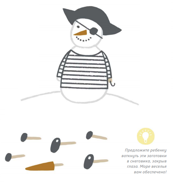 Заготовки для снеговика также можно сделать из пластилина